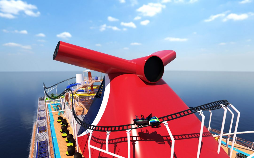 "Carnival Cruise Line boasts ""First roller coaster at sea"""